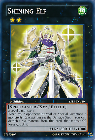 Shining Elf, one of the best rank 2 XYZ monsters in Yugioh
