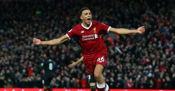 Trent Alexander-Arnold, one of the best Liverpool players during the 2017/18 season