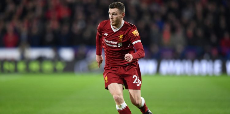 Andy Robertson, one of the best Liverpool players during the 2017/18 season