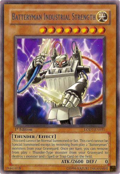 Batteryman, one of the best budget decks in Yugioh