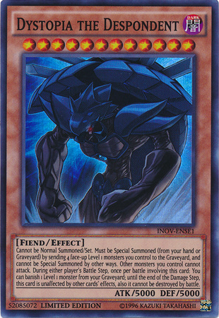 Dystopia the Despondent, one of the best Kuriboh cards in Yugioh