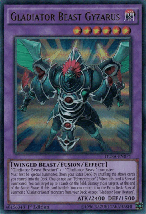 Gladiator Beast, one of the best budget decks in Yugioh
