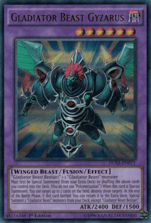 Gladiator Beast, one of the best budget decks in Yugioh