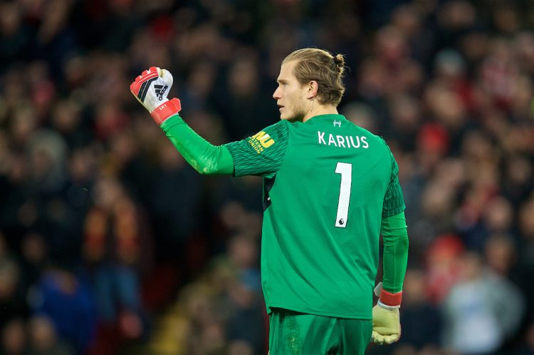 Loris Karius, one of the best Liverpool players during the 2017/18 season