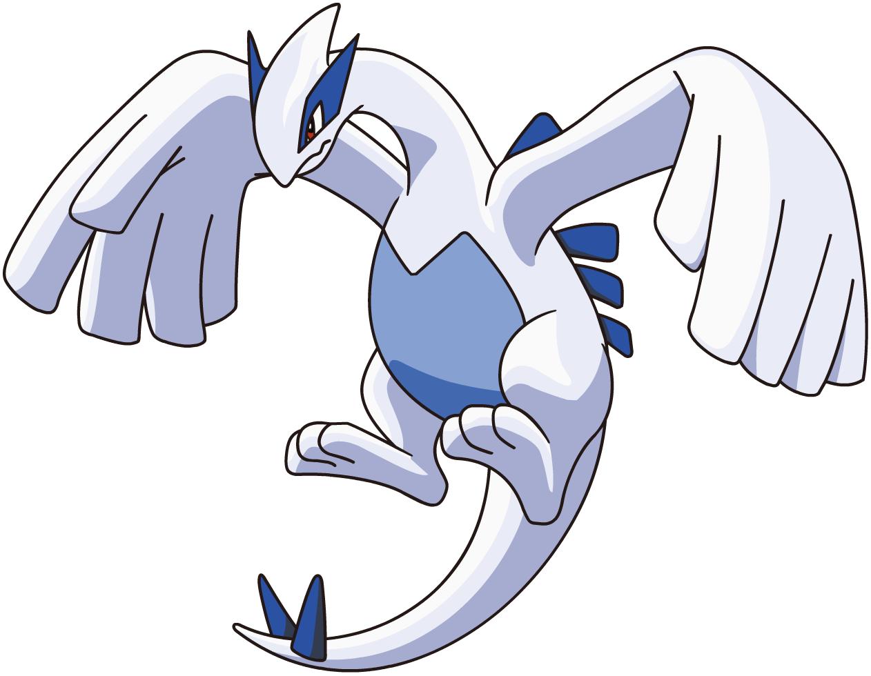 Lugia, one of the easiest Pokemon to draw