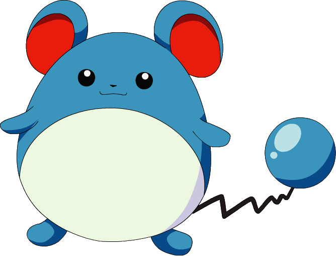 Marill, one of the easiest Pokemon to draw