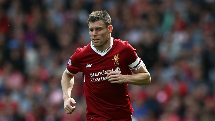 James Milner, one of the best Liverpool players during the 2017/18 season