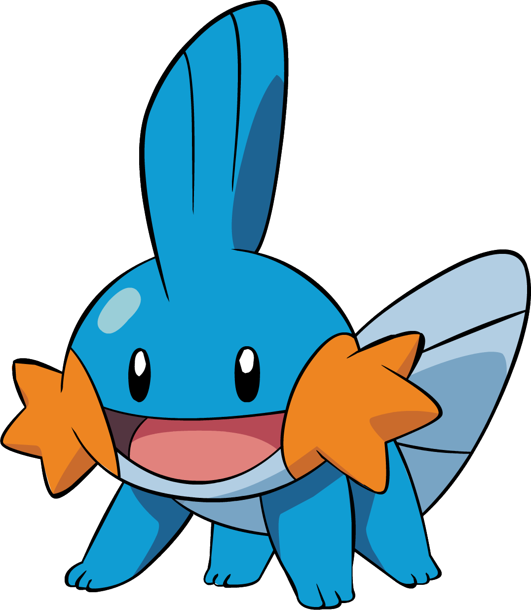 Mudkip, one of the easiest Pokemon to draw