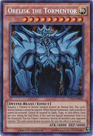 Obelisk the Tormentor, one of the best god cards in Yugioh
