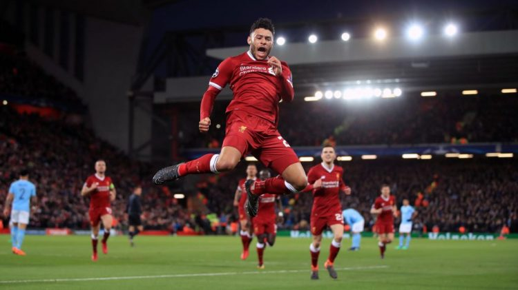 Alex Oxlade-Chamberlain, one of the best Liverpool players during the 2017/18 season