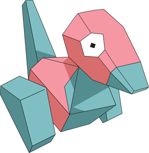 Porygon, one of the easiest Pokemon to draw