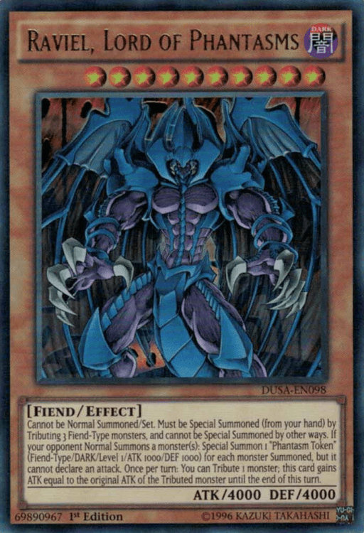Raviel Lord of Phantasms, one of the best god cards in Yugioh