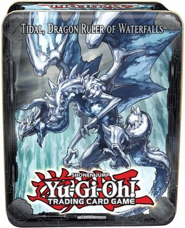 Tidal, Dragon Ruler of Waterfalls tin, one of the best collector tins in Yugioh