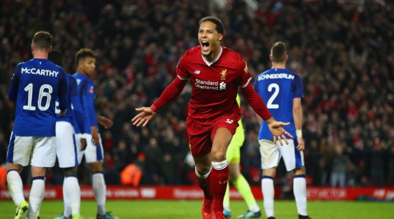 Virgil Van Dijk, one of the best Liverpool players during the 2017/18 season