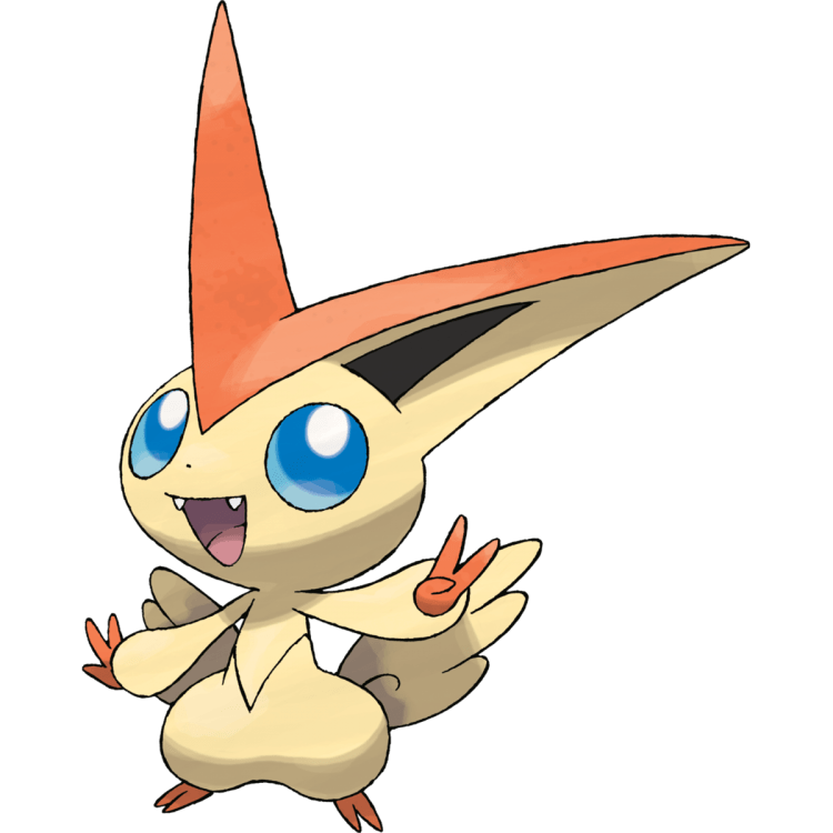 Victini, one of the easiest Pokemon to draw