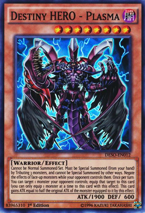 Destiny HERO - Plasma, one of the best HERO monsters in Yugioh