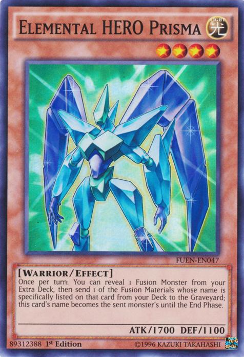 Elemental HERO Prisma, one of the best HERO monsters in Yugioh