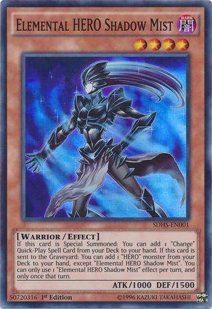 Elemental HERO Shadow Mist, one of the best HERO monsters in Yugioh