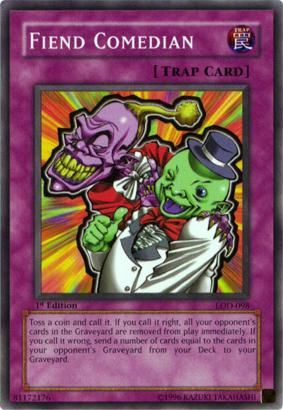 Fiend Comedian, one of the best mill cards in Yugioh
