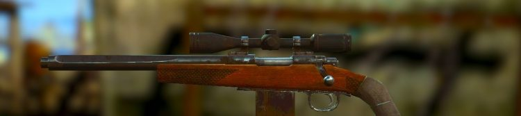 Hunting Rifle, one of the best sniper rifles in Fallout 4