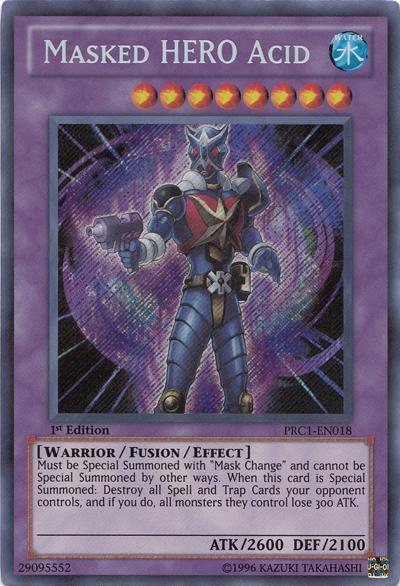 Masked HERO Acid, one of the best HERO monsters in Yugioh
