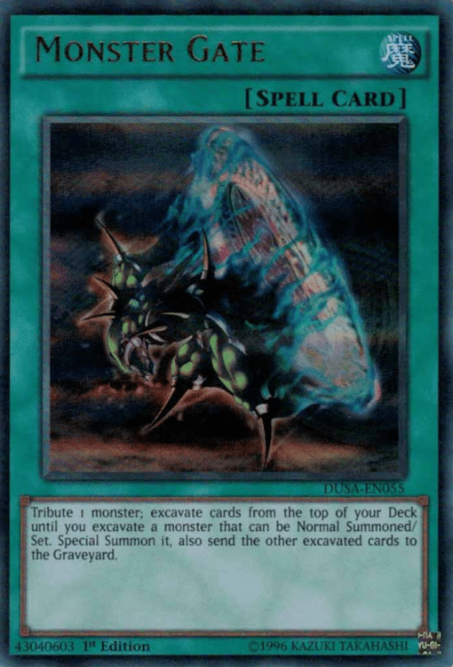 Monster Gate, one of the best mill cards in Yugioh