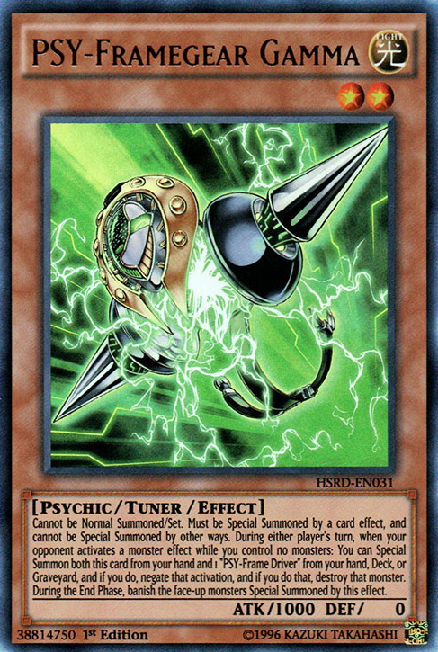 PSY-Framegear Gamma, one of the best hand traps in Yugioh