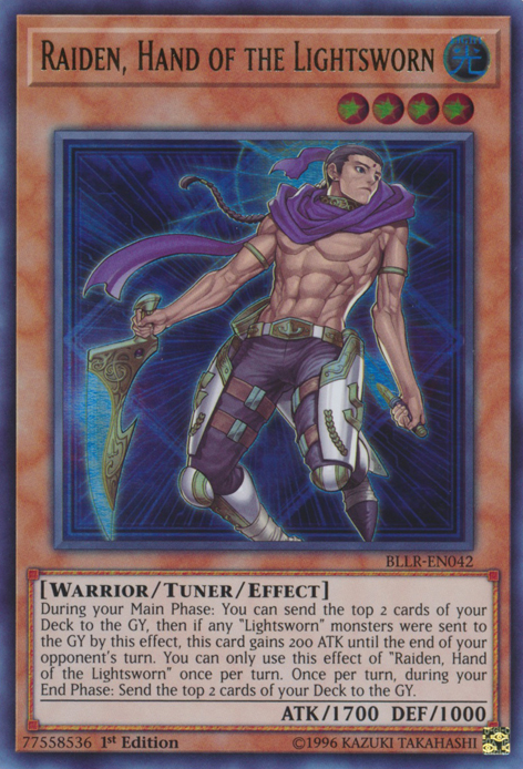 Raiden, Hand of the Lightsworn, one of the best mill cards in Yugioh