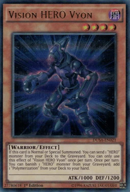 Vision HERO Vyon, one of the best HERO monsters in Yugioh