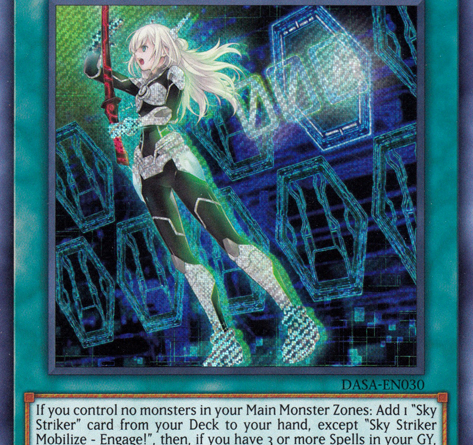 Sky Striker Mobilize Engage, a main card in Sky Strikers, one of the best competitive decks in Yugioh