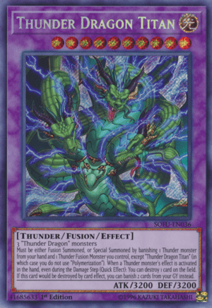 Thunder Dragons, the best Thunder archetype in Yugioh