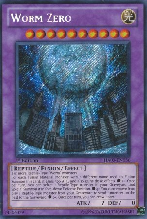 Worms, the best reptile archetype in Yugioh