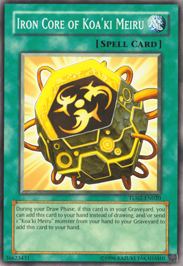 Iron Core, one of the least known archetypes in Yugioh