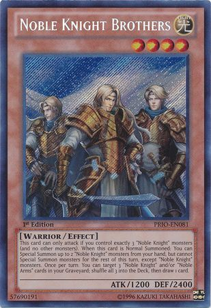 Noble Knights, one of the best warrior archetypes in Yugioh