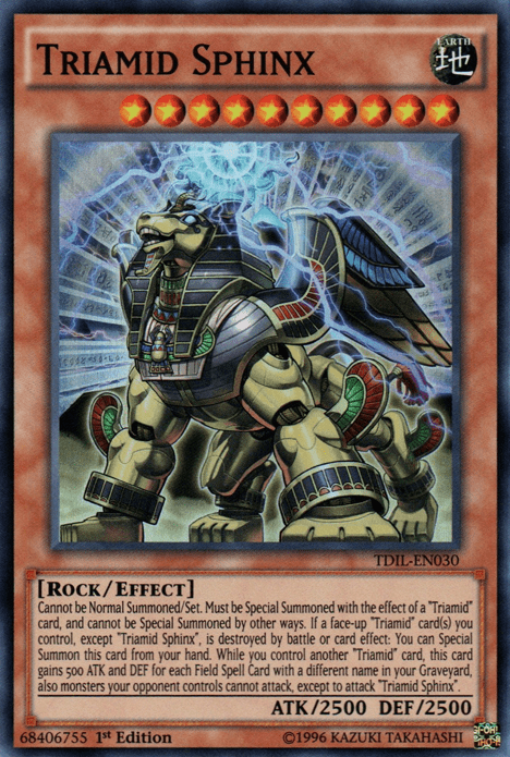 Triamid, one of the least known archetypes in Yugioh