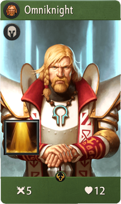 Omniknight, one of the best heroes in Artifact