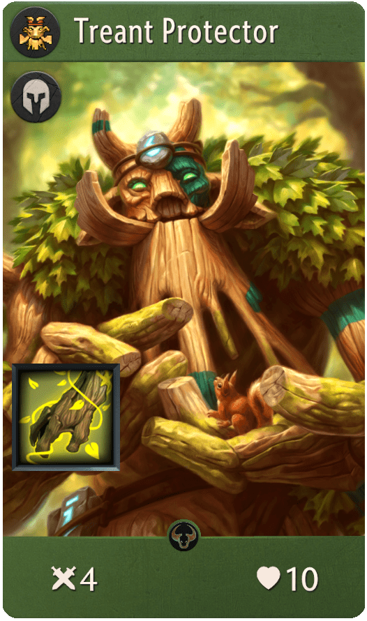 Treant Protector, one of the best heroes in Artifact