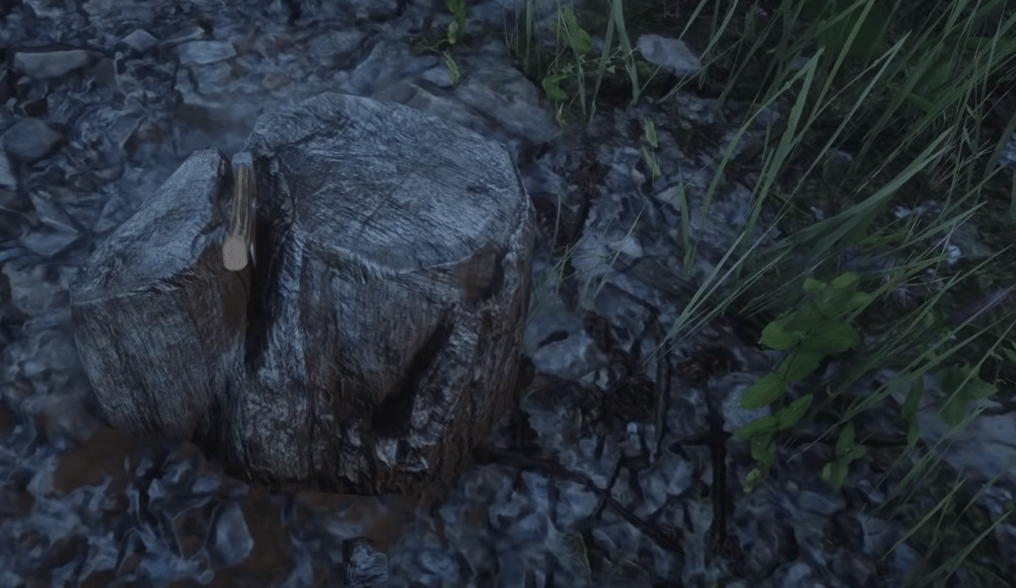 Hunter Hatchet, one of the best melee weapons in Red Dead Redemption 2