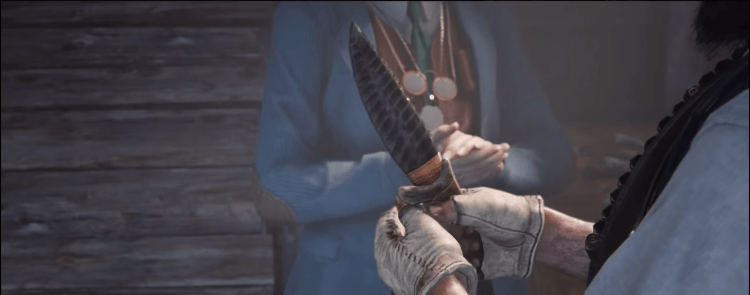 Jawbone Knife, one of the best melee weapons in Red Dead Redemption 2