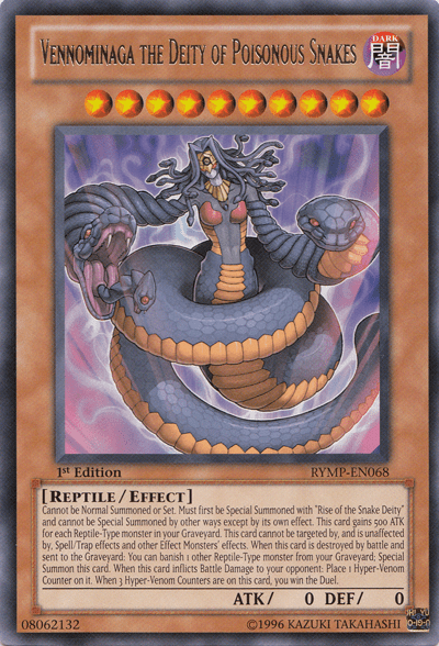 Vennominaga the Deity of Poisonous Snakes, one of the best win conditions in Yugioh