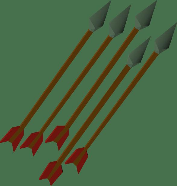 Adamant, one of the best arrows in Old School RuneScape