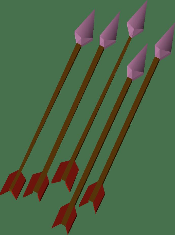 Amethyst, one of the best arrows in Old School RuneScape