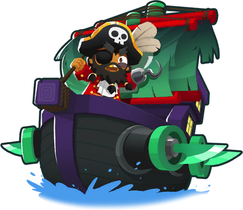 Pirate Lord, one of the cheapest rank 5 upgrades in Bloons Tower Defense 6