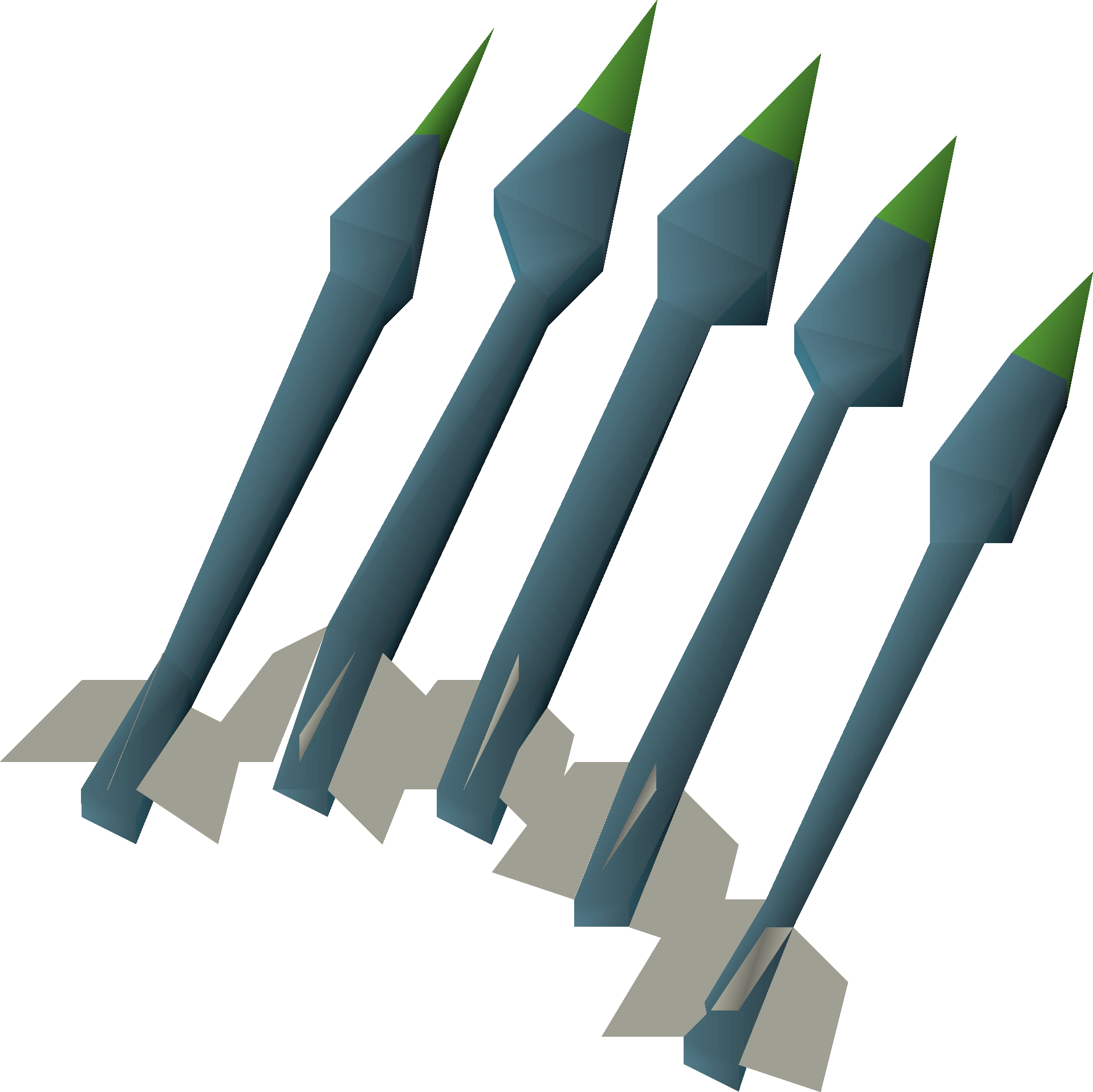 Runite, one of the best crossbow bolt types in Old School RuneScape