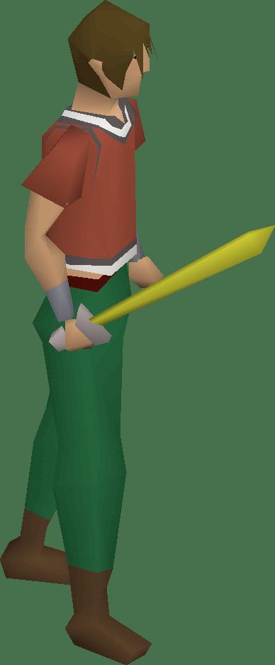 Starter Sword, one of the best Scimitars in Old School RuneScape