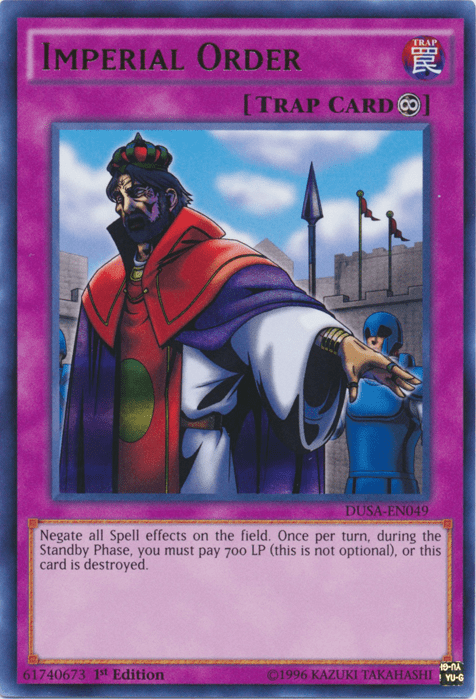 Imperial Order, the best floodgate in Yugioh