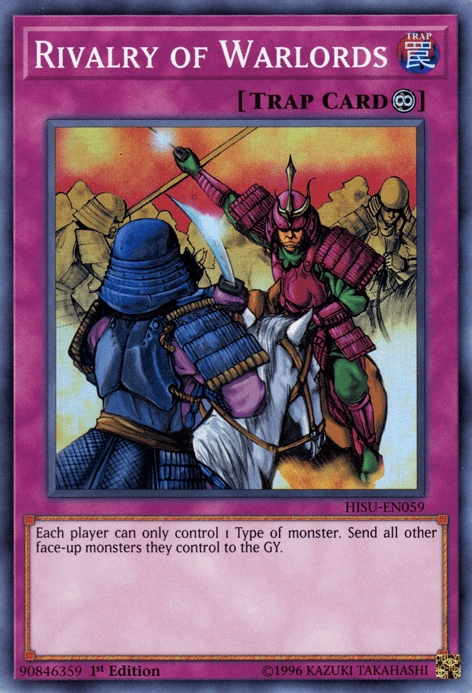 Rivalry of Warlords, one of the best floodgates in Yugioh