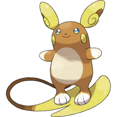 Alolan Raichu, one of the best Electric type Pokemon in Pokemon Let's Go