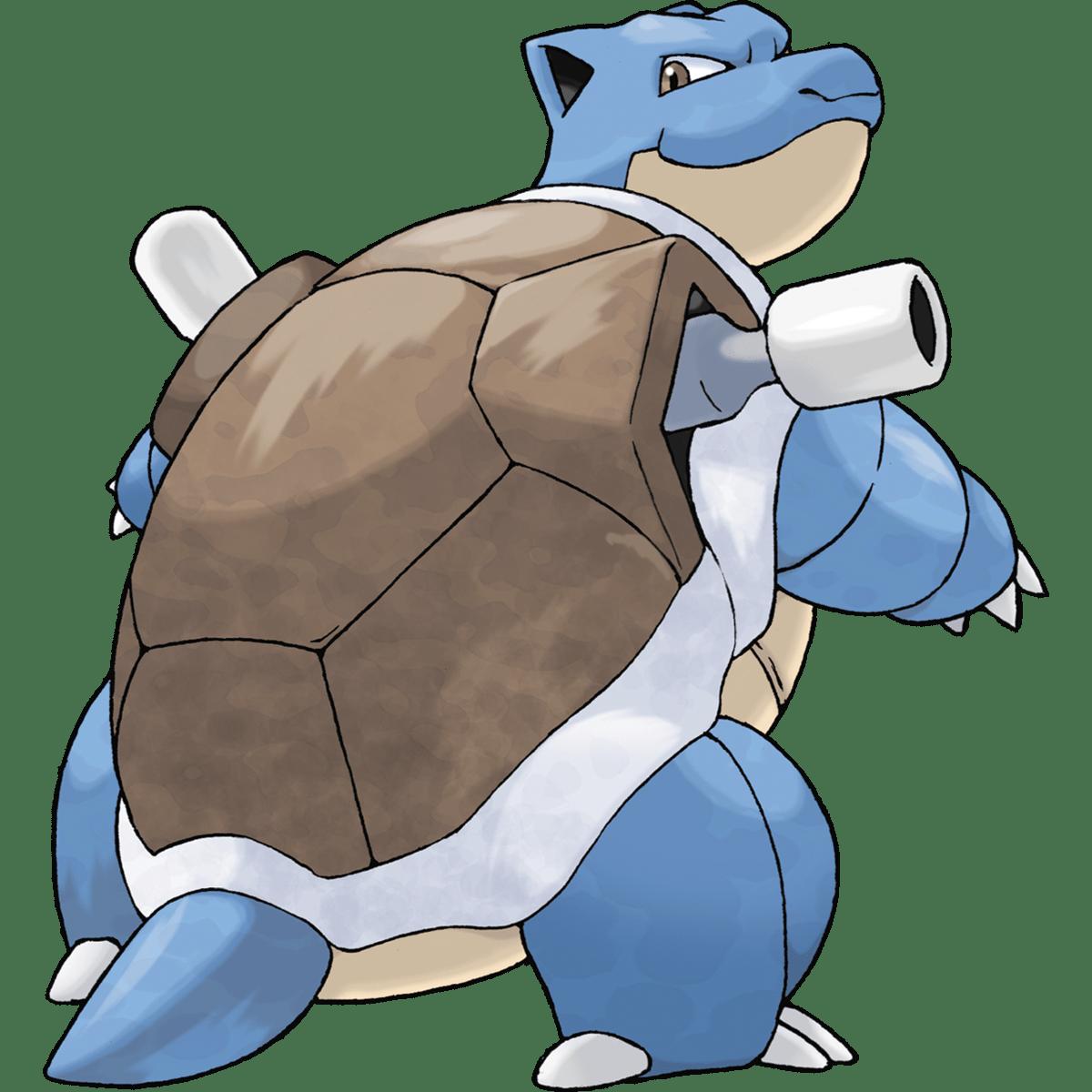 Blastoise, one of the best Water type Pokemon in Pokemon Let's Go