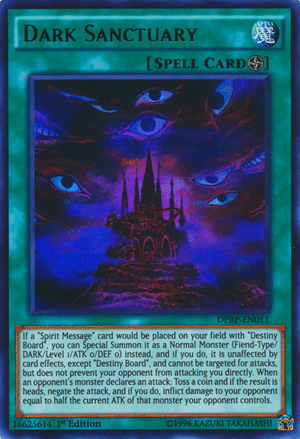 Dark Sanctuary, one of the best coin flip cards in Yugioh